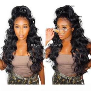 Full Lace Wig Silk Top 150 Density Wavy Virgin Malaysian Lacefront Wig Pre Plucked Hairline Glueless Lace Front Silk Base Wigs Baby Hair