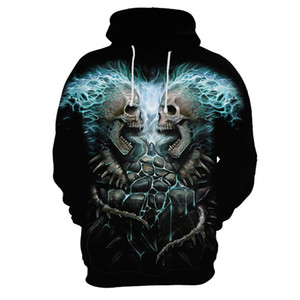 USA 3D The New City Novelty Active Mens Sweater Pullover Character Regular Long Sleeve Loose Men's Hoodies Thin Wholesale