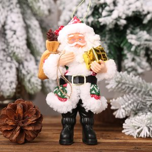 New Christmas Ornaments Resin Santa Claus Ornament Standing Posture Small Doll Ornament Doll Pendant Wholesale Europe And America HHE2803