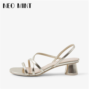 Women Sandals Fashion Summer Middle Heel Sandals Sexy Open Toe Sandals for Roman Female Shoes J1208
