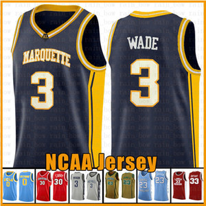 11.19 3 DWYANE 10 Деннис 25 Уэйд Родман Ричардс Маркетт Золотые Орлы Джьи NCAA Curry Davidson Wildcats College Баскетбол Джерси EFS4