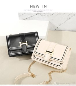 Youha new women's bag 2019 fashion atmosphere simple oblique satchel pure color one shoulder bag is light and practical
