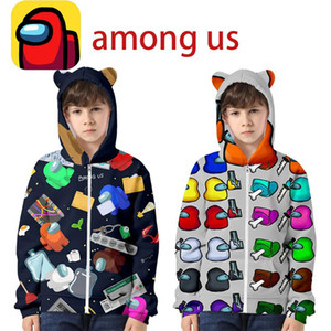 Among Us Game Hoodies Children Tops Pullover Sweatshirts Designer T-shirt Hooded Sweater Junior Boy Girls Long Sleeve Blouse Clothes FY9319