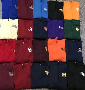 University League Basketball polyester zipper sports hoodie coat large loose hip hop sweater