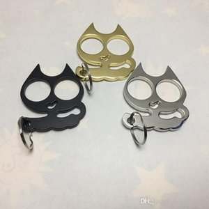 Super cute iron cat two-finger keychain, self-defense supplies cat eye refers to the new cat eye refers to the tiger keychain, refers to6464