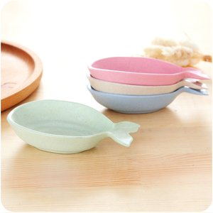 Small Dishes Wheat Straw Fish Shape To Flavor Creative Plate Soy Sauce Vinegar Snack Tray Factory Direct Selling 1 7ld p1