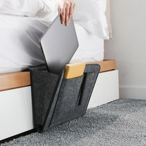 wardrobe organizer Bed Storage Bag Pocket Felt Bedside Hanging Table Sofa Bedroom Organizer Holder Anti-slip closet