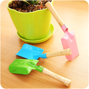 Mini Gardening Shovel Colorful Metal Small Shovel Garden Mini Spade Hardware Tools Digging Garden Tools Kids Spade Tool LLS397