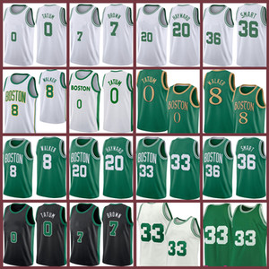 Kemba 8 Walker Jayson 0 Tatum 33 Basketball Jersey Marcus 36 Smart Jaylen 7 Brown Gordon 2021 뉴저지
