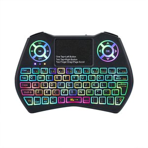 Mini Keyboard I9 Plus Colorful Backlight Air Mouse With Touchpad Remote Control Work For Android TV BOX TV Mini PC Projector X96