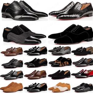Mode rote Unterseite Schuhe Greggo Orlato flach Echtes Leder Oxford Schuhe Herren Womens Walking Wohnungen Hochzeit Party Müßiggänger 38-47
