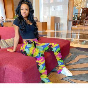 Fit Mid Waist Split Fashion Famale Leggings Pants Ladies Casual Trousers Women Camouflage Stacked Sweatpants Slim