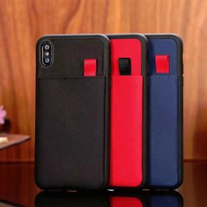 Pour iPhone 12 11 Pro Max Téléphone de téléphone Top Qualité Carte en cuir Pocket Designer Coque Téléphone pour iPhone X XS XR XSMAX 7 8Plus housse TPU