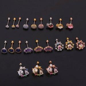 Stainless Steel Ear Piercing Stud Earrings Simple Screw Ear Bone Nails Earrings Women Fashion Jewelry Body Tool Kimter-X972FZ