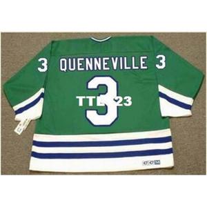 121S # 3 Joel Quenneville Hartford Whalers 1988 CCM Vintage Home Hockey Jersey o personalizado Cualquier nombre o número Jersey Retro