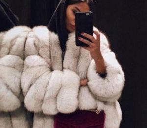 Martin799 Donne Faux Fur Coat inverno donne di alta qualità cappotto caldo di spessore Plus Size peluche Furry femminile del rivestimento tuta sportiva del cappotto