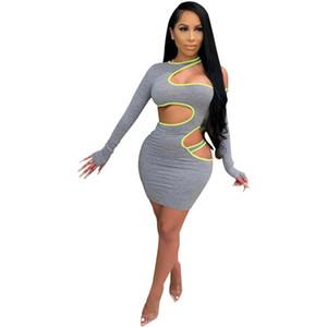 Sexy Holow Out Womens Kleider Casual trägerlosen Designer Damen Dünne Kleider Mode Soild Farbe Womens Kleidung
