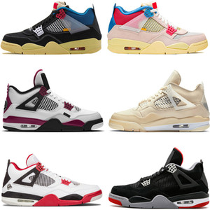 AJ 4 Bred 2019 What The Basketball Shoes 30th Anniversary Laser Silt Red Splatter Singles Day Lightning Pure Money Oreo Men 4 Sneakers