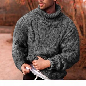 Plus Size Sweater Men Turtleneck Thick Warm Mens Sweaters Wool Pullover High Turtle Neck Casual Male Sweter Pull Homme Black