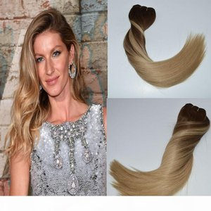"ombre hair sair clip remi hair extensions 컬러 중간 갈색 ash 금발 # 4 페이딩 # 18 실크 스트레이트 14 ""-24""120g"