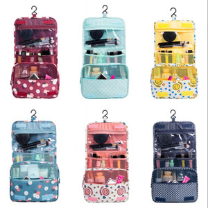 Hook Multi Storey Cosmetic Bags DIY Square Magic Stick Makeup Handbag 24*10*19CM Outdoor Storage Pouch Flower Printing 6 8yf G2