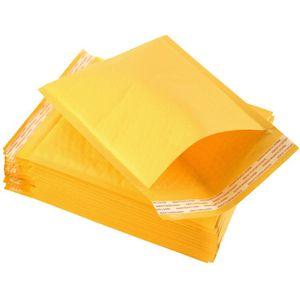 Çanta PE Zarf Wrap Çanta Torbalar Pad Çanta Kabarcık Sarı Ambalaj Kraft Mailers Kabarcık Dış Express 13 * 15 + 4 cm ZYY405 FTLMH