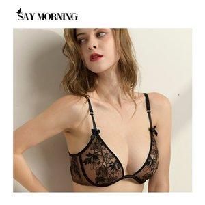 Say Morning Women Bordado Bordado Bra Bra Top Lace Super Push Up Ajustado-Straps Lingerie Brassiere C1211