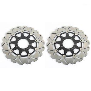 Bikingboy Front Freno Discos Discos Rotores para ZX6R 636 13-19 ZX10R 08-15 ZZR 1400 ZX14R 06-19 GTR 1400 ZG1400 Z 800 10001