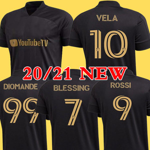 NCAA New Arrived 2020 LAFC Carlos Vela Soccer Jerseys 20 21 Home X ZELAYA ROSSI Los Angeles FC Black Parley Primary WHITE Football Shirts