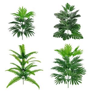 24 cabeças artificiais plantas monstera 78cm grande árvore tropical palmeira falsa folhas verdes planta falsa folha folhagem jardim decoração home venda quente m2