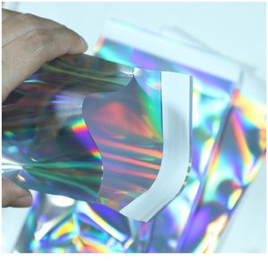 10pcs Laser Self Sealing Plastic Envelopes Mailing Storage Bags Holographic Gift Jewelry Poly Adhesive Courier Packaging wmtmju
