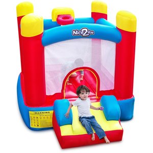 YARD Inflatable Bounce House Party Castle Bouncer Small size Jumping House with Slide Powerful Blower