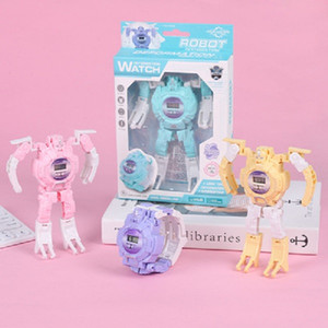 Creative Children's Day Puzzle Deformed Character Toy Boy Girl Students Gift Robot Electronic Watch