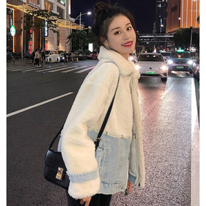 in the fall and winter of 2020 web celebrity upset female lamb wool coat loose fur one short plush cotton-padded jacket1