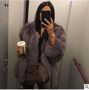 2020 نساء نمط جديد فو الفراء معطف الشتاء جودة عالية سميكة المرأة المعطف دافئ زائد الحجم القطيفة فروي أنثى سترة معطف ملابس 5XL