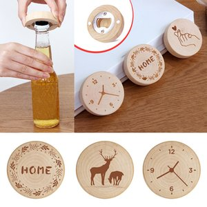 Creative Log Screwdriver Bottle Opener Wooden Refrigerator Magnet Personalized Message Magnetic Sticker 7 styles DHF2836