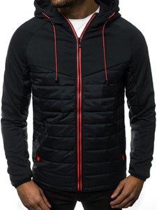 New Casual Hoody Spliced Jacket Men Hoodies Sweatshirts Fashion Coat Hooded Cardigan Plus Fleece Clothes