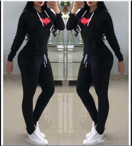 Moda Donna Sexy Ladies Tutesuits Donne Due pezzi Set SET Sportwear Abiti Donna Abiti da donna Sport Abbigliamento fitness