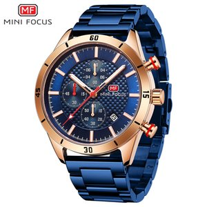 European and American Fashion High-End Mini Focus Watch Business Mens Watch Multi-Function Watch Calendar Luminous Waterproof Steel Belt Men