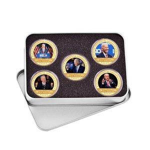 США президентские выборы Джо Байден позолоченные монеты коллекционирования США вызовы монеты оригинальные медальные подарки для человека DHA2828