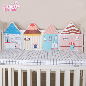 Infant Shining Newborn Baby Bed Bumper Cribs 4pcs Colorful Bedding Set Bumper Fence Anticollision Washable Baby Room Accessory1