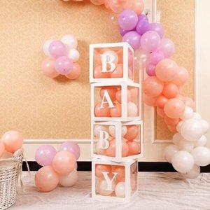 Parti Dekorasyon 4 adet Set DIY Şeffaf Lateks Balon Tutucu Dekoratif Kutu Topu Çocuk Doğum Günü Bebek Duş Dekor Ev Gereçleri Ürün 1
