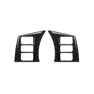 Kohlenstofffaser-Lenkrad-Knopf-Rahmen dekorativer Aufkleber für Nissan 350Z 2006-2009