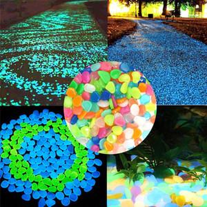 Resplandor en las piedras oscuras Jardín Oudeor Pasillos brillantes piedras fluorescentes brillantes piedras luminosas piedras para la decoración del jardín DHA2910