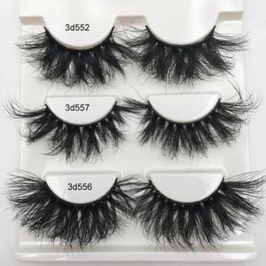 Fluffy Lashes 100% 3d Mink Lashes Dramatic Soft Volume Natural Eyelashes 10mm-20mm Eyelash Extension Wholesale Mink Eyelashes