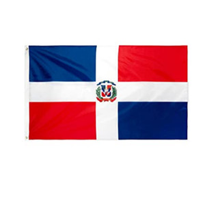 Custom Dominican National Country Flags Wholesales 3'X5' Foot 100D Polyester High Quality With Two Brass Grommets
