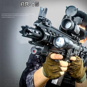 Детская игрушка подарка воды Gel шарика Gun Штурмовик Открытый CS Игры стрелялки Электрозеркала Ручной пистолет весело и безопасно AR15 для детей Y1117