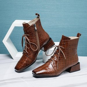 Hot Sale-Bottes femme 2020 new winter shoes women's ankle boots genuine leather keep warm beauty lady ankle boots zapatos de mujer