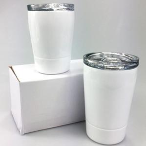 DIY SUBLIMACIÓN 8OZ NIÑOS Tumblers 304 Tumblers de acero inoxidable Botella de agua para niños Niños Tazas de leche Copas de vino Envío de mar CCA12662