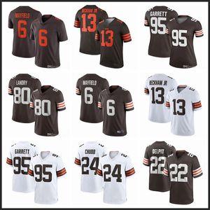 Cleveland6 Baker Mayfield 24 Nick Chubb BrownYeni Futbol formaları 95 Myles Garrett 80 Jarvis Landry 21 Denzel Ward 13 Beckham Jr